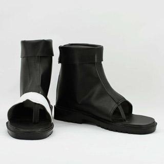 NARUTO -ナルト- 我愛羅(ガアラ) 忍者ブーツ ブラック 合皮 ゴム底 低ヒール コスプレブーツ