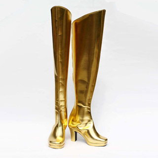 X-メン 靈鳥/火鳳凰(Phoenix) 金色 合皮 ゴム底 ハイヒール コスプレブーツ