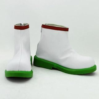 鬼灯の冷徹 白澤(はくたく) ホワイト 合皮 ゴム底 低ヒール コスプレ靴