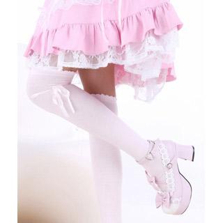 ロリータ アクセサリー可愛いメイドタイプ 蝶結び プリンセスの靴下 ゴスロリ ソックス