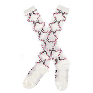 ロリータ アクセサリー可愛いメイドタイプ ふんわり レトロな靴下 ゴスロリ ソックス