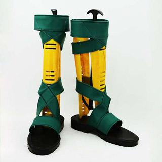 拡散性ミリオンアーサー アーサー グリーン 合皮 ゴム底 低ヒール コスプレ靴