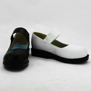 ダンガンロンパ 希望の学園と絶望の高校生 モノクマ 擬人化 ブラックとホワイト 合皮 ゴム底 低ヒール コスプレ靴