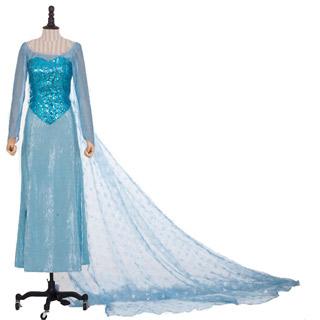 アナと雪の女王 Frozen エルサ(Elsa) ワンピース コスプレ衣装