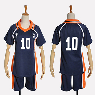 ハイキュー!! 日向 翔陽(ひなた しょうよう) 烏野高校排球部 番号10 ユニフォーム コスプレ衣装