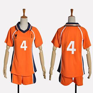 ハイキュー!! 西谷 夕(にしのや ゆう) 烏野高校排球部 番号4 ユニフォーム コスプレ衣装