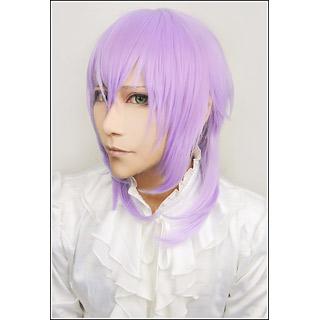 神々の悪戯 戸塚 月人(とつか つきと) 日本神話 月の神 紫 ロング コスプレウィッグ