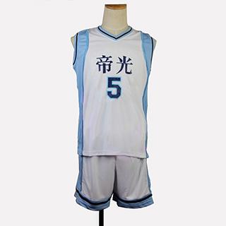 黒子のバスケ 紫原敦(むらさきばら あつし) ユニフォーム 番号5 コスプレ衣装