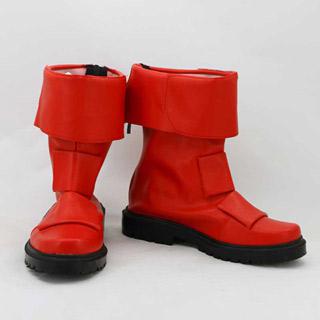 獣拳戦隊ゲキレンジャー 赤 低ヒール コスプレ靴 コスプレブーツ