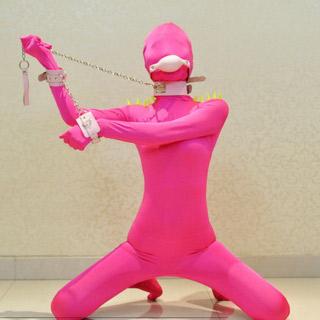 通気 柔らかい ピンク 伸縮性が有り ハリネズミ ライクラ 全身タイツ