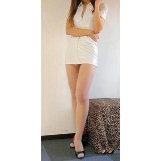 通気 柔らかい 看護師風 制服 エアロビ セクシー タイツ