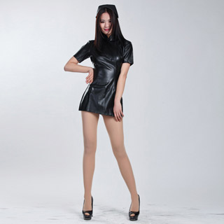 通気 柔らかい 伸縮性が有り セクシー ブラック 制服風 セクシー衣装 タイツ