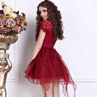 お姫様 高級スカート 半袖 二色選択可 赤と白 ロリィタ/ロリータ ゴスロリ