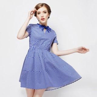 ヨーロッパ風 夏服  スイート お嬢様 ドット ワンピース オリジナル衣装