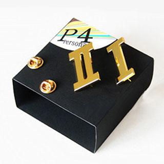 ペルソナ4 PERSONA4 里中 千枝(さとなか ちえ) ピンズ ゴールデン 学級章 一年生/二年生 選択可 コスプレ道具