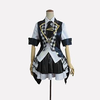 AKB0048 襲名メンバー 6代目 柏木由紀(かしわぎ ゆき)/ゆきりん 白黒チェッカー柄 コスプレ衣装