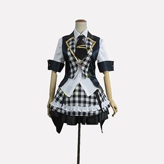 AKB0048 襲名メンバー 9代目 大島優子(おおしま ゆうこ)/ゆうこ 白黒チェッカー柄 コスプレ衣装