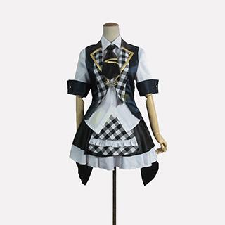 AKB0048 襲名メンバー 3型目 渡辺麻友(わたなべ まゆ)/まゆゆ 白黒チェッカー柄 コスプレ衣装