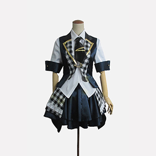 AKB0048 襲名メンバー 10代目 秋元才加(あきもと さやか)/さやか 白黒チェッカー柄 コスプレ衣装