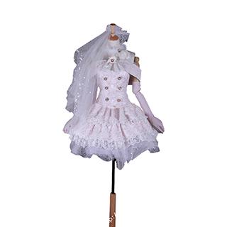 ラブライブ! SR<6月 パーティーウエディングドレス> 覚醒後 西木野 真姫(にしきの まき) コスプレ衣装