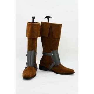 塔の上のラプンツェル フリン・ライダー(Flynn Rider) ゴム底 合皮 低ヒール コスプレ靴