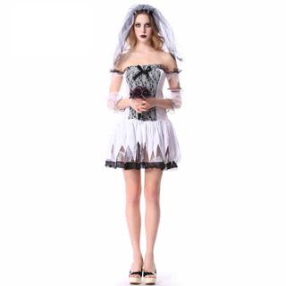 ハロウィン 大人仮面舞踏会衣装 サスペンス 鬼の花嫁 女性衣装 フリーサイズ コスチューム