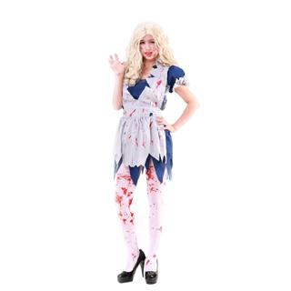 ハロウィン 大人仮面舞踏会衣装 ゾンビアリス 女性衣装 フリーサイズ コスチューム