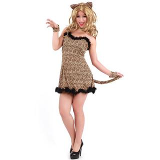ハロウィン 大人仮面舞踏会衣装 動物衣装 コスチューム 豹柄衣装 女性衣装 フリーサイズ コスチューム