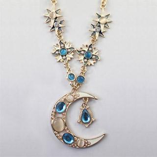 ヨーロッパ風 月神  ダイヤ ネックレス セーターの鎖 オリジナル道具