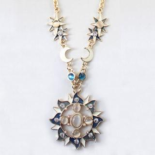 ヨーロッパ風 太陽神  ダイヤ ネックレス セーターの鎖 オリジナル道具