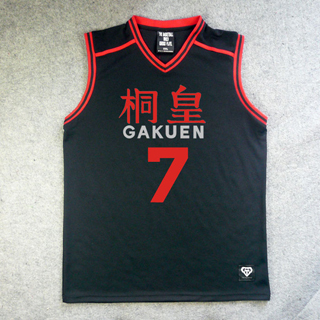 黒子のバスケ 桐皇学園高校 諏佐 佳典(すさ よしのり) 7番 ユニフォーム コスプレ衣装
