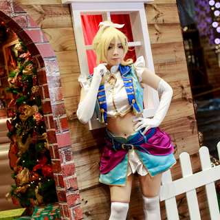 Love Live! Anime Single2 Love wing bellDancing stars on me! Eli Ayase Cosplay Costume