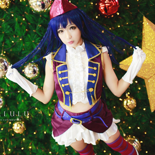 Love Live! Anime Single2 Love wing bellDancing stars on me! Umi Sonoda Cosplay Costume