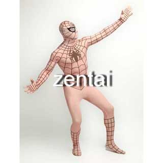 通気 柔らかい セクシー ライクラ スパイダーマン 肌色 全身タイツ 仮装 コスチューム