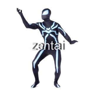 通気 柔らかい セクシー スパイダーマン ヴェノム ライクラ 全身タイツ