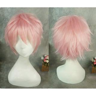 Tsukiuta ツキウタ。 Six Gravity シックスグラビティー 2月 如月恋(きさらぎ こい) ピンク ショート コスプレウィッグ