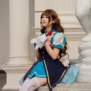 ◆試作版·10点限定◆ アイドルマスター シンデレラガールズ オープニング 「Star!!」 島村卯月(しまむら うづき) コスプレ衣装