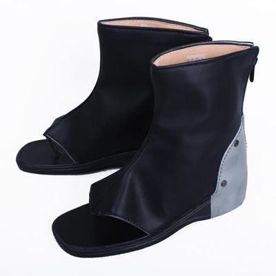 甲鉄城のカバネリ 無名(むめい) 通常 低ヒール 合皮 ゴム底 コスプレ靴