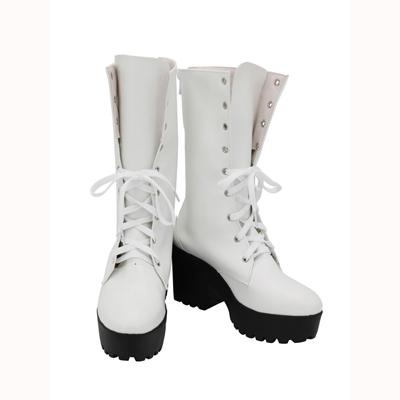 【ヒプノシスマイク ブーツ 】碧棺合歓(あおひつぎ ねむ) 合皮 ゴム底 コスプレ靴