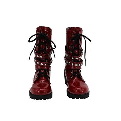 【ヒプノシスマイク ブーツ 】四十物十四 (あいものじゅうし)  合皮  ゴム底  コスプレ靴