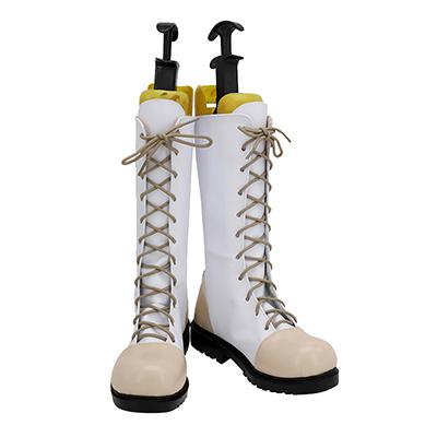 【鬼滅の刃 ブーツ 】栗花落カナヲ(つゆり かなを) 合皮  ゴム底  コスプレ靴