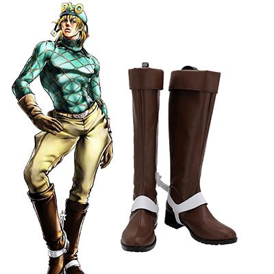 【ジョジョの奇妙な冒険 ブーツ 】ディエゴ・ブランドー  合皮 ゴム底 コスプレ靴