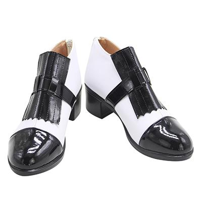 【ツイステ ブーツ 】ディズニー ツイステッドワンダーランド ジェイド スケアリー・ドレス 合皮 ゴム底 コスプレ靴