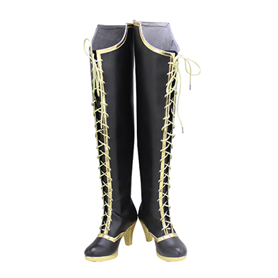 【ツイステ ブーツ】ヴィル スケアリー・ドレス  風  コスプレ靴
