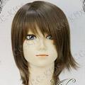 Brown  Final Fantasy X  Yuna  Short Nylon Cosplay Wig
