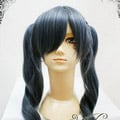 Blue  Black Butler  Ciel Phantomhive  female ver Long Nylon Cosplay Wig
