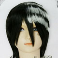 Black+White  SOUL EATER Death the Kid Short Nylon Cosplay Wig