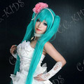 Blue Vocaloid Hatsune Miku  Long Nylon Straight Cosplay Wig