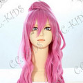 Pink Vocaloid  Megurine Luka Long Nylon Wavy Cosplay Wig