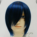 Black&Blue  Short Nylon Cosplay Wig